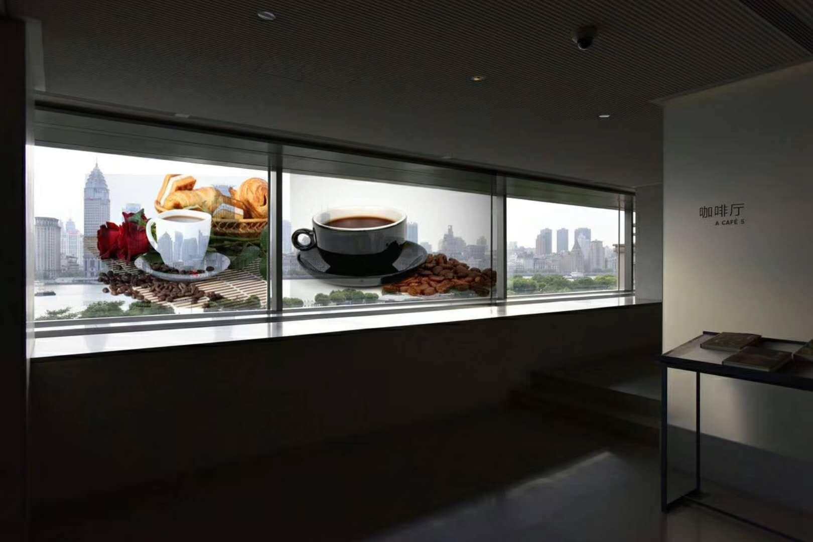 透明屏橱窗广告机